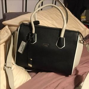 Large GUESS satchel with crossbody strap